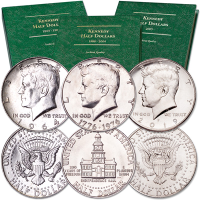 Image for 1964-2019 Kennedy Half Dollar Year Set with Albums from Littleton Coin Company