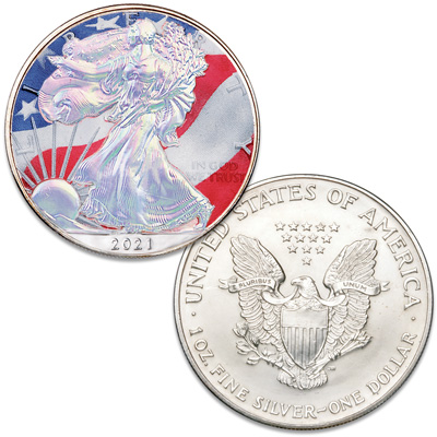 Image for 2021 Colorized & Hologram Silver American Eagle from Littleton Coin Company
