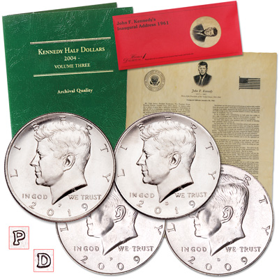 Image for 2009-2019 P&D Kennedy Half Dollar Set from Littleton Coin Company