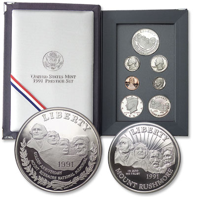 Image for 1991-S U.S. Mint Prestige Proof Set (7 coins), Choice Proof, PR63 from Littleton Coin Company