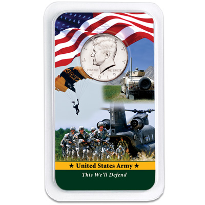 Image for 2019 Kennedy Half Dollar in U.S. Army Showpak from Littleton Coin Company