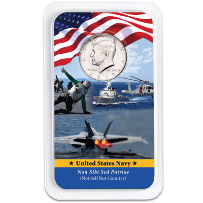 Image for 2019 Kennedy Half Dollar in U.S. Navy Showpak from Littleton Coin Company