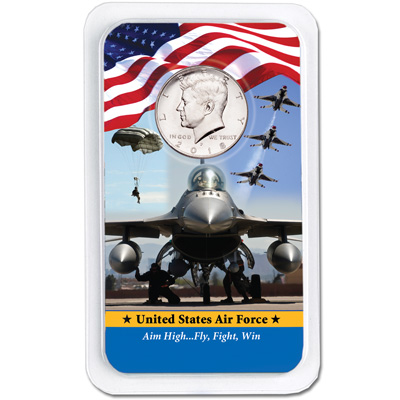 Image for 2018 Kennedy Half Dollar in U.S. Air Force Showpak from Littleton Coin Company