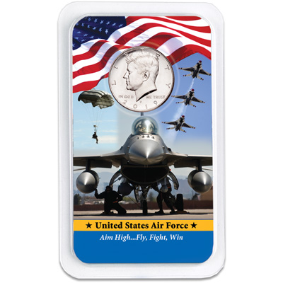 Image for 2019 Kennedy Half Dollar in U.S. Air Force Showpak from Littleton Coin Company