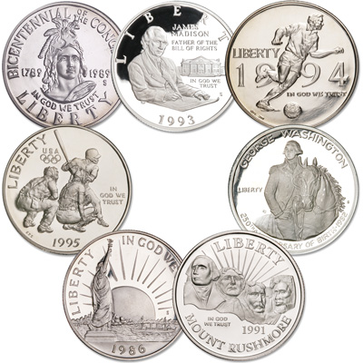 Image for 1982-1995 U.S. Commemorative Half Dollar Set from Littleton Coin Company