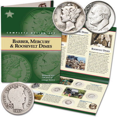 Image for Classic American Coin Set - Dimes from Littleton Coin Company