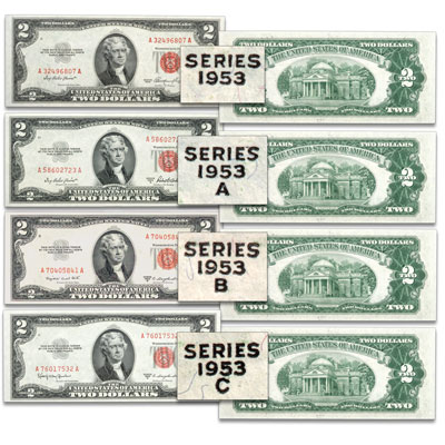Image for 1953 $2 Legal Tender Note Signature Set from Littleton Coin Company