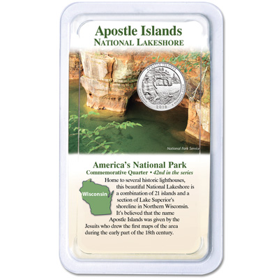 Image for 2018 Apostle Islands National Lakeshore Quarter in Showpak from Littleton Coin Company