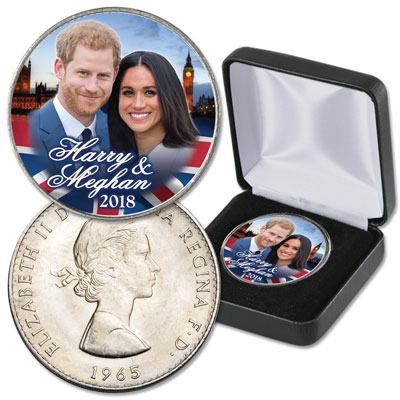 Image for Colorized Royal Engagement Crown with Case from Littleton Coin Company