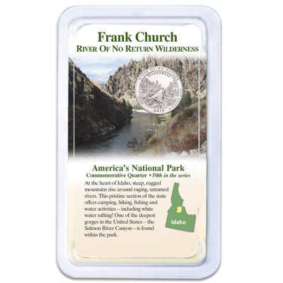 Image for 2019 Frank Church River of No Return Wilderness Quarter in Showpak from Littleton Coin Company