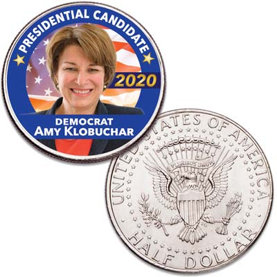 Image for Colorized Amy Klobuchar Presidential Candidate Coin from Littleton Coin Company
