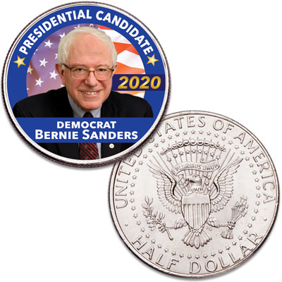 Image for Colorized Bernie Sanders Presidential Candidate Coin from Littleton Coin Company