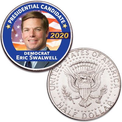 Image for Colorized Eric Swalwell Presidential Candidate Coin from Littleton Coin Company