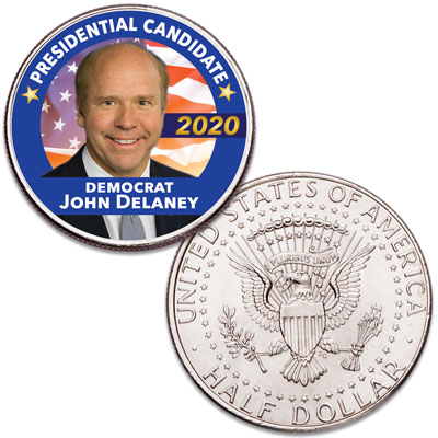 Image for Colorized John Delaney Presidential Candidate Coin from Littleton Coin Company