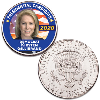 Image for Colorized Kirsten Gillibrand Presidential Candidate Coin from Littleton Coin Company