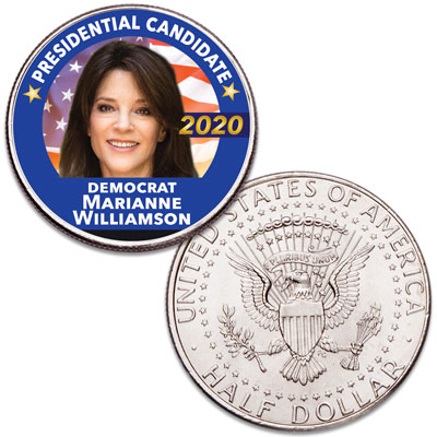 Image for Colorized Marianne Williamson Presidential Candidate Coin from Littleton Coin Company