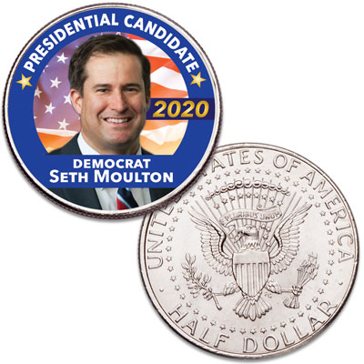 Image for Colorized Seth Moulton Presidential Candidate Coin from Littleton Coin Company