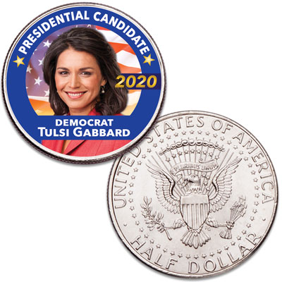 Image for Colorized Tulsi Gabbard Presidential Candidate Coin from Littleton Coin Company