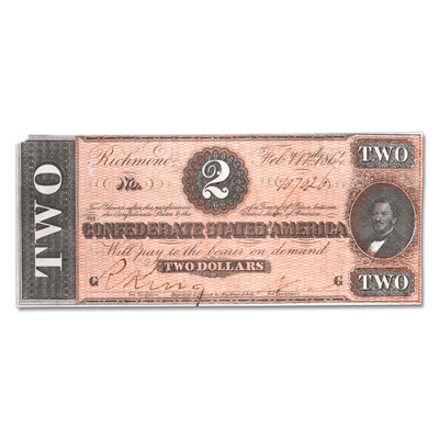 Image for 1864 $2 Confederate Note from Littleton Coin Company