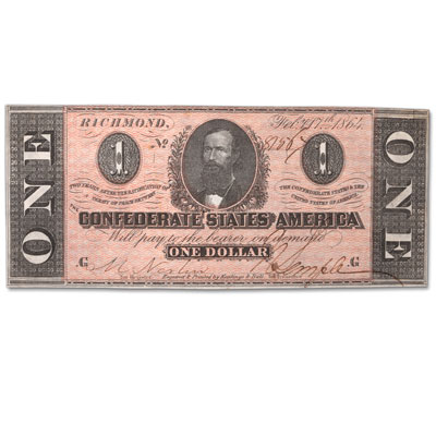 Image for 1864 $1 Confederate Note from Littleton Coin Company