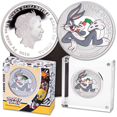 Image for 2018 Tuvalu 1/2 oz. Silver Bugs Bunny from Littleton Coin Company