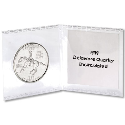 "Image for Double Pocket 2"" x 2"" SAFLIPS With Cardboard Inserts (Pack of 50) from Littleton Coin Company"