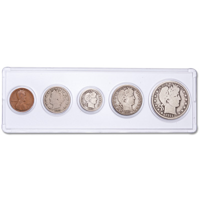 Image for 1911 Year Set with Holder (5 coins) from Littleton Coin Company